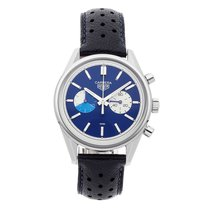 TAG Heuer Carrera pre-owned 39mm Blue Chronograph Leather
