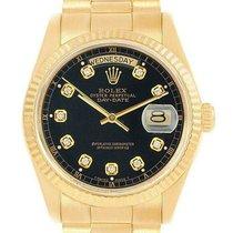 Rolex Day-Date 36 Gelbgold 36mm Schwarz