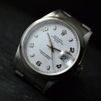 Rolex Oyster Perpetual Date Acier 34mm Argent Arabes