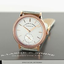 A. Lange & Söhne Saxonia pre-owned 38.5mm Silver Date Year Crocodile skin
