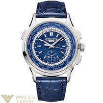 Patek Philippe Complications World Time White Gold Blue Dial...
