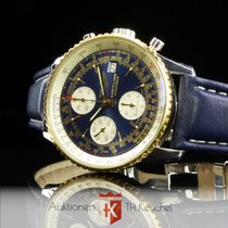 Breitling Old Navitimer II Gold Stahl blue dial Ref. D13022...