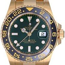 Rolex GMT - Master II Men's 18K Yellow Gold Watch 116718