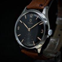 Omega Vintage Black dial Cal 266 Handaufzug Top Zustand aus 1951