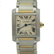 Cartier Ladies 18k Gold & Stainless Steel Cartier Tank...