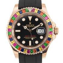 勞力士 Yacht Master 18k Rose Gold Black Automatic 116695