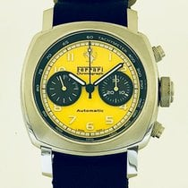 Panerai Ferrari Steel 44mm Yellow Arabic numerals