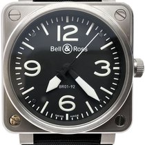 Bell & Ross BR 01-92 Сталь 46mm Чёрный Aрабские