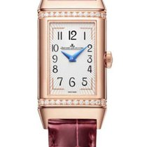 Jaeger-LeCoultre Rose gold Manual winding Silver Arabic numerals 40mm new Reverso Duetto