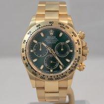 Rolex Daytona Aur galben 40mm Verde Fara cifre
