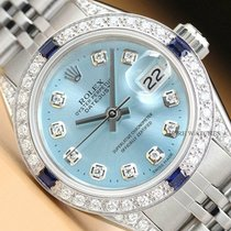 Rolex pre-owned Automatic 26mm Blue Sapphire Glass