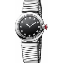 Bulgari Lucea Steel 28mm Black No numerals