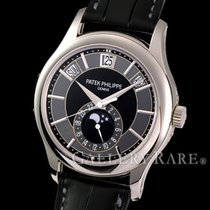 Patek Philippe Annual Calendar Black Dial WG/Leather