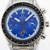 Omega Speedmaster Racing pre-owned 39mm Blue Chronograph Tachymeter Steel