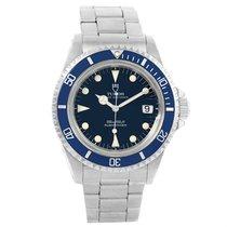 Tudor Submariner Prince Oysterdate Steel Mens Watch 79090 Box...