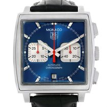 TAG Heuer 38mm Remontage automatique 2002 occasion Monaco (Submodel) Bleu
