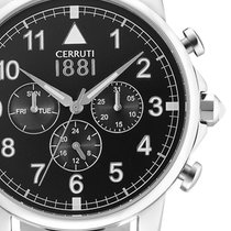 Cerruti Steel 43mm Quartz CRA081A222G new
