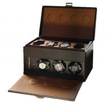 Scatola del Tempo Uhrenbeweger 7RT OS Leder 190x300x190mm Neu...
