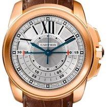 Cartier новые Механические Прозрачная задняя крышка Гильошированный циферблат 45mm Pозовое золото Сапфировое стекло