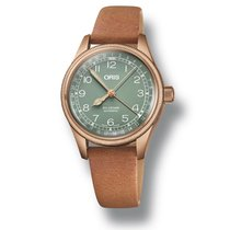 Oris Big Crown Pointer Date Steel 36mm Green Arabic numerals United States of America, New Jersey, Cherry Hill