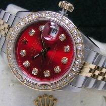 Rolex Lady-Datejust Gold/Steel 26mm Red No numerals