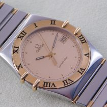 Omega Constellation Day-Date Goud/Staal 33,5mm Wit Geen cijfers