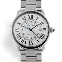 Cartier Ronde Solo de Cartier Steel 42mm Silver Roman numerals United Kingdom, London