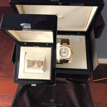 Patek Philippe Yellow gold Automatic Silver No numerals 40mm pre-owned Nautilus