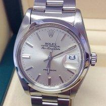 Rolex Air King Date Steel 34mm Silver No numerals