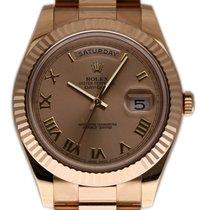 Rolex (ロレックス) デイデイト II 新品 2016 自動巻き 正規のボックスと正規の書類付属の時計 218235