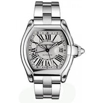 Cartier Roadster GMT Mens' Automatic Watch Stainlesss Steel...