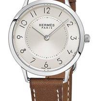 Hermès Slim d'Hermès Stahl 32mm Silber