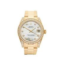 Rolex Datejust 18k Yellow Gold Ladies 178158 - W3877