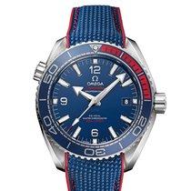 Omega Seamaster Planet Ocean Steel 43.5mm Blue Arabic numerals United Kingdom, Northallerton