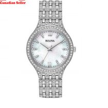 Bulova 96L242 Women's Crystal Stainless Steel Watch With...