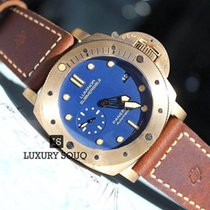 Panerai Bronze Automatic Blue No numerals 47mm new Special Editions