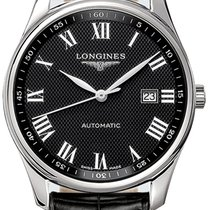 Longines Steel Automatic Black Roman numerals 42mm new Master Collection