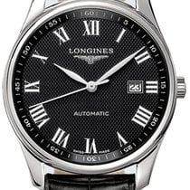 Longines Master Collection Steel 42mm Black Roman numerals