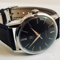 Omega Seamaster Black Face Dial 1960 vintage mens watch + Box