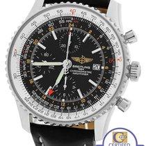 Breitling MINT Breitling Navitimer World GMT Stainless Black...