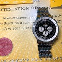 Breitling Navitimer Heritage gebraucht 43mm Weiß Chronograph Datum Stahl