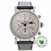 Chronoswiss Chronograph 38mm Automatik 1998 gebraucht Lunar Silber
