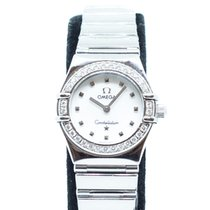 Omega Constellation Quartz Steel 22.5mm Mother of pearl Singapore
