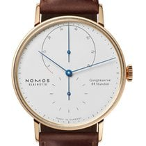NOMOS Lambda Rose gold 39mm Silver