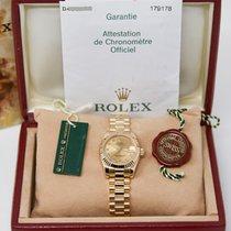 Rolex Lady-Datejust Sárgaarany 26mm Pezsgőszínű Római