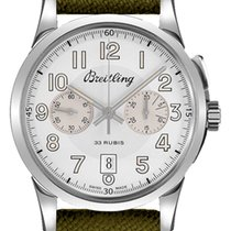 Breitling Transocean Chronograph 1915 Steel 43mm Silver Arabic numerals United States of America, California, Moorpark