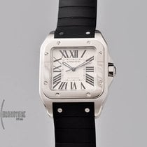 Cartier Santos 100 Steel 38mm White