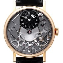 Breguet new Manual winding Skeletonized Power Reserve Display 37mm Rose gold Sapphire crystal