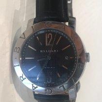 Bulgari Bulgari pre-owned 42mm Black Date Leather