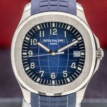 Patek Philippe White gold Automatic Blue Arabic numerals 42mm pre-owned Aquanaut